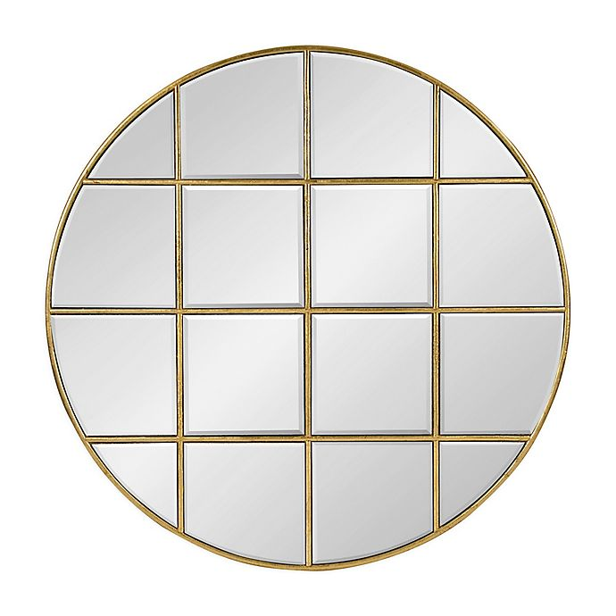 Alternate image 1 for Kate and Laurel Denault 30-Inch Round Mirror in Gold