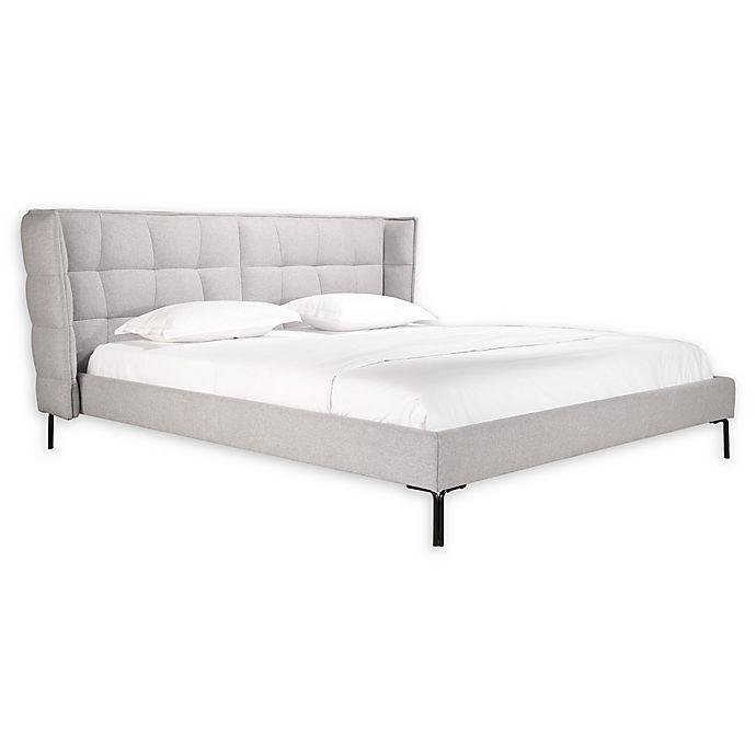 Alternate image 1 for Moe's Home Collection Ostalo King Upholstered Platform Bed in Light Grey