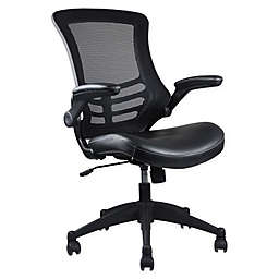 Techni Mobili Stylish Mid-Back Mesh Office Chair with Adjustable Arms in Black