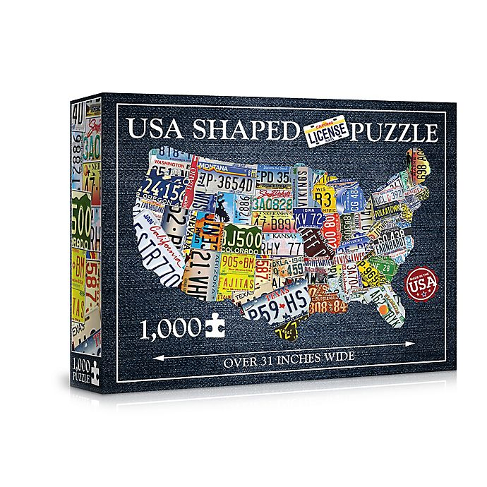 Alternate image 1 for 1000-Piece USA License Plate Jigsaw Puzzle