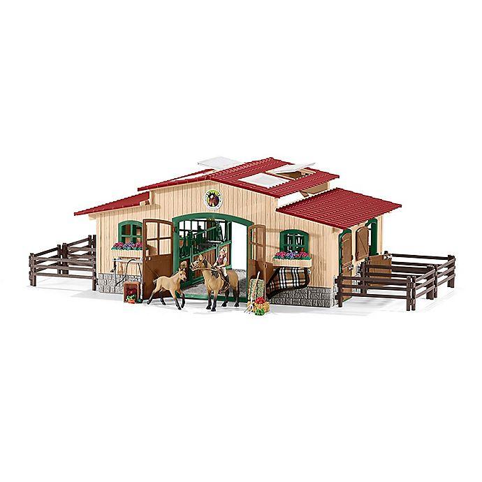 Alternate image 1 for Schleich Farm World Horse Stable Figurine Set