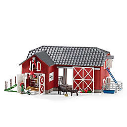Schleich® Farm World Large Red Barn with Animals Toy Figure Set