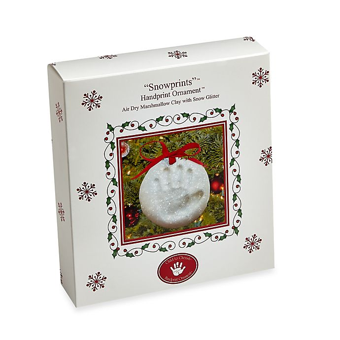 Child To Cherish Snow Prints Handprint Ornament Kit Bed