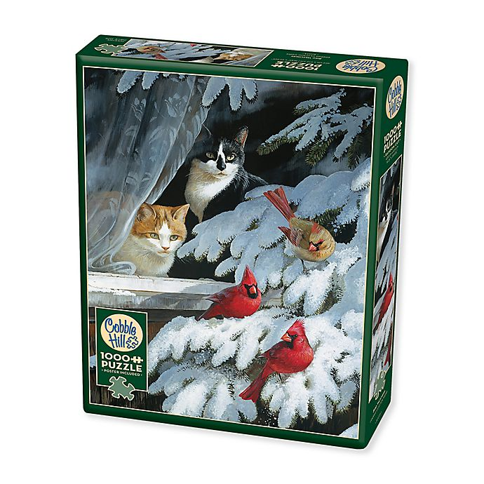 Alternate image 1 for Bird Watchers 1000-Piece Jigsaw Puzzle with Poster