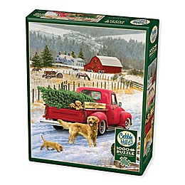 Cobble HIll 1000-Piece Christmas on the Farm Puzzle