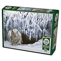 Dozing Lynx 1000-Piece Jigsaw Puzzle with Poster