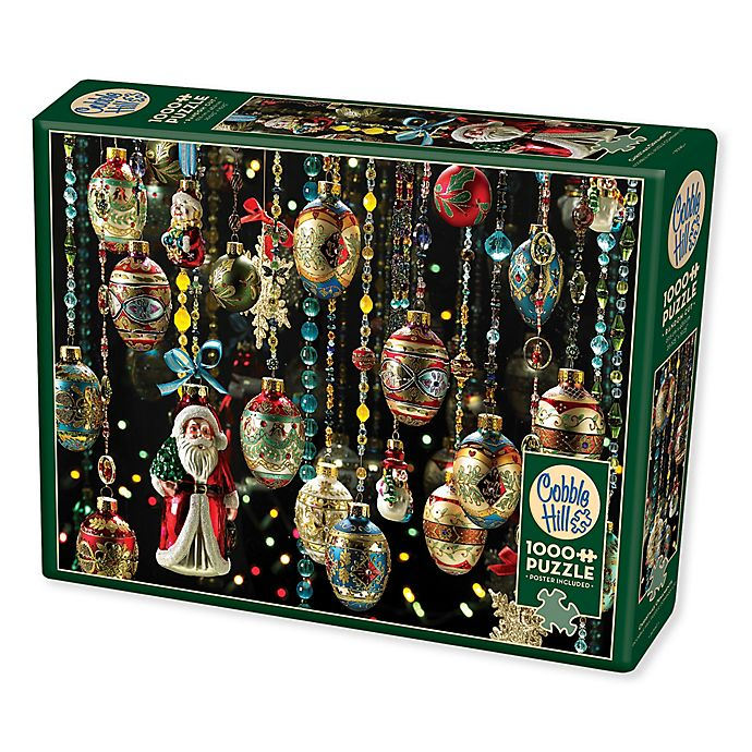 Alternate image 1 for Christmas Ornaments 1000-Piece Puzzle with Poster