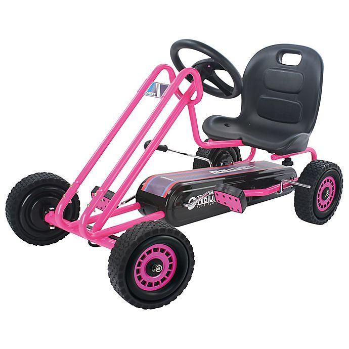 Alternate image 1 for Hauck Lightning Ride-On Pedal Go-Kart in Pink