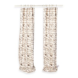 Glenna Jean Carson 90-Inch Window Curtain Panel Pair in Ivory