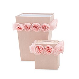 Glenna Jean Victoria Wastebasket and Tissue Cover Set