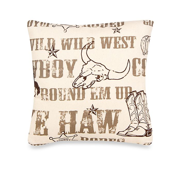 Alternate image 1 for Glenna Jean Carson Vintage Print Throw Pillow in Brown