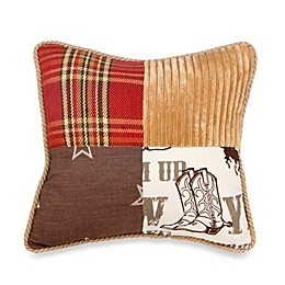 Glenna Jean Carson Patchwork Throw Pillow in Butterscotch