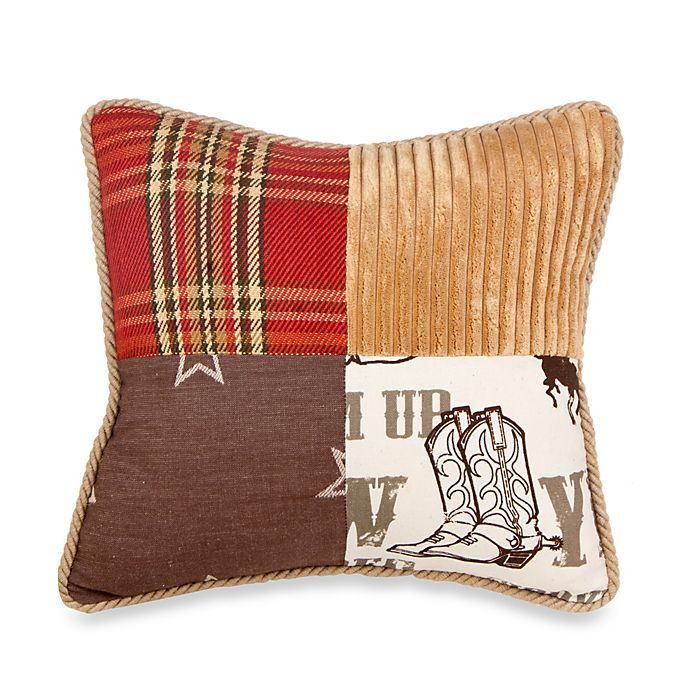 Alternate image 1 for Glenna Jean Carson Patchwork Throw Pillow in Butterscotch