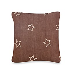 Glenna Jean Carson Star Print Throw Pillow in Brown