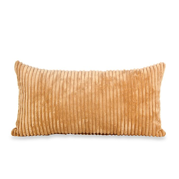Alternate image 1 for Glenna Jean Carson Corduroy Rectangular Throw Pillow in Butterscotch