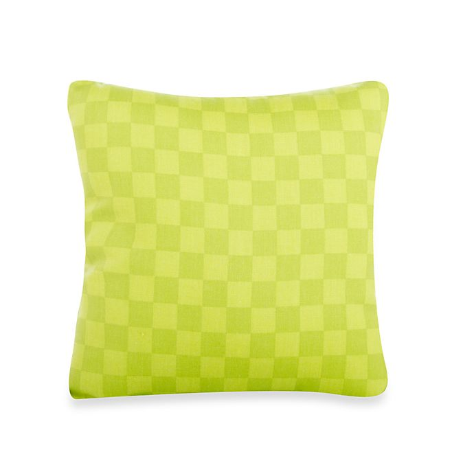 Alternate image 1 for Glenna Jean Lulu Checked Throw Pillow in Green