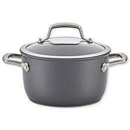 Anolon® Accolade Nonstick Hard Anodized 3.5 qt. Covered Saucepot in Moonstone