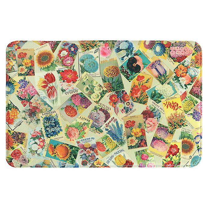Bacova Vintage Seeds 22-Inch x 35-Inch Memory Foam Kitchen Mat