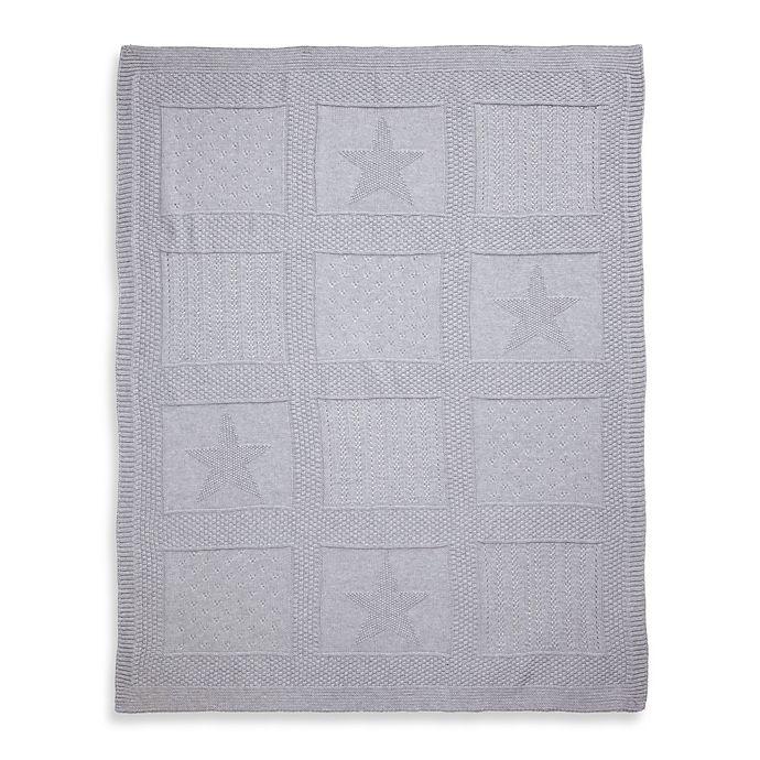 Alternate image 1 for Elegant Baby® Knit Baby Blanket in Grey Star