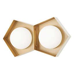 George Kovacs® Five-O 2-Light LED Vanity Light in White