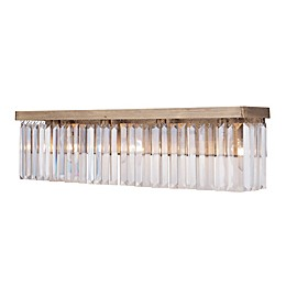 Varaluz Social Club 4-Light Vanity Light in Havana Gold