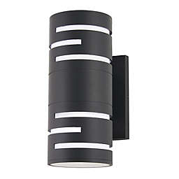 George Kovacs® Groovin Indoor/Outdoor LED Wall Sconce in Black
