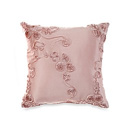 Glenna Jean Ava Ribbon Throw Pillow in Pink