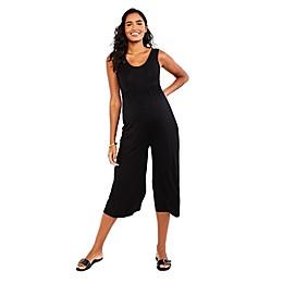 Motherhood® Maternity Cropped Jumpsuit in Black