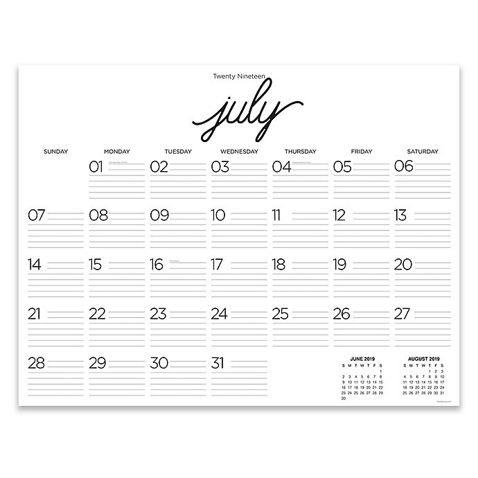 Calendar June 2020.Tf Publishing Calligraphy July 2019 To June 2020 12 Month Calendar
