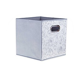 Relaxed Living Rose Garden 11-Inch Square Collapsible Storage Bin