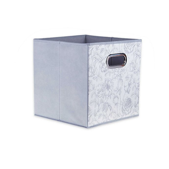 Alternate image 1 for Relaxed Living Rose Garden 11-Inch Square Collapsible Storage Bin