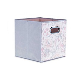 Relaxed Living Painted Garden 11-Inch Collapsible Storage Bin in Powder Pink