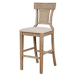 Linon Home Krista Stools in Grey Wash