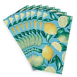 Lemon Grove Indoor/Outdoor Napkins in Turquoise (Set of 8)