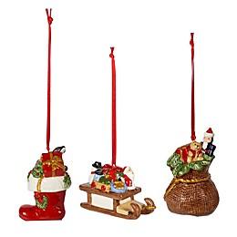 Villeroy & Boch 3-Piece Nostalgic Christmas Gifts Ornaments Set