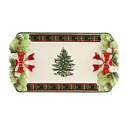 Spode® Christmas Tree 14.25-Inch Figural Tartan Tray