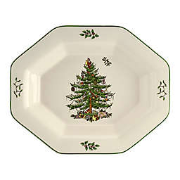 Spode® Christmas Tree 9.5-Square Octagonal Server