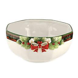 Spode® Christmas Tree Tartan Octagonal Serving Bowl