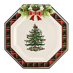 Spode® Christmas Tree Tartan Octagonal Plate