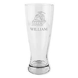 University of Texas at El Paso 20 oz. Etched Pilsner Glass