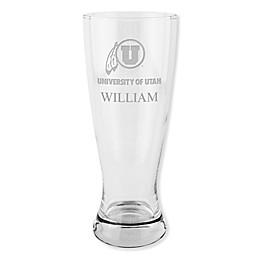 University of Utah 20 oz. Etched Pilsner Glass