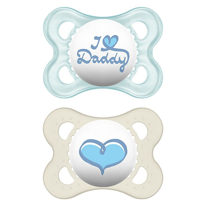 MAM Style Soother 6 Blue I love mummy//Blue made with love 3 Pack Months