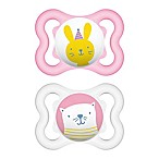 MAM Mini Air Age 0-6 Months Pacifier in Pink (2-Pack)