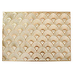 Lavalle Pressed Vinyl Placemat in Gold
