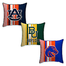 Collegiate Variegated Stripe Decorative Throw Pillow Collection