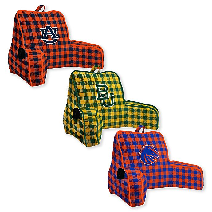 Alternate image 1 for Collegiate Buffalo Check Backrest Pillow Collection