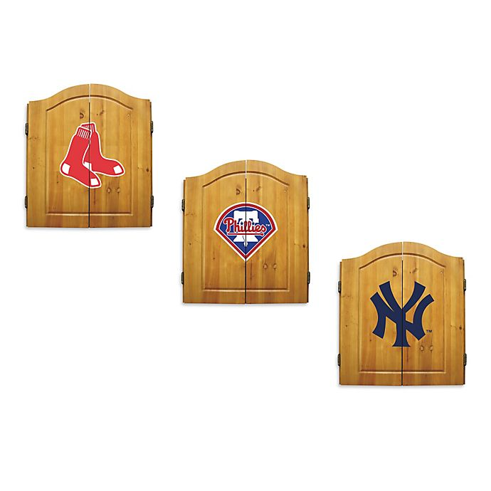 Alternate image 1 for MLB Dartboard and Cabinet Set Collection