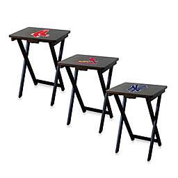MLB TV Tray Set with Storage Rack (Set of 4)