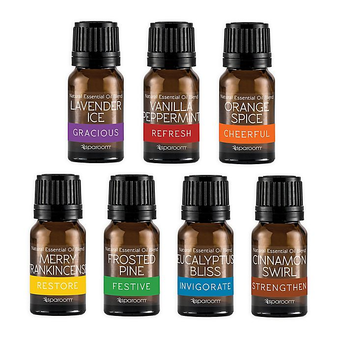 Alternate image 1 for SpaRoom® Holiday Season 7-Pack 5 mL. Natural Essential Oil Variety Pack