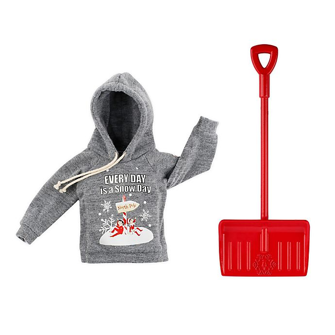 Alternate image 1 for Claus Couture Elf on the Shelf® Snow Day Shovel 'n' Set